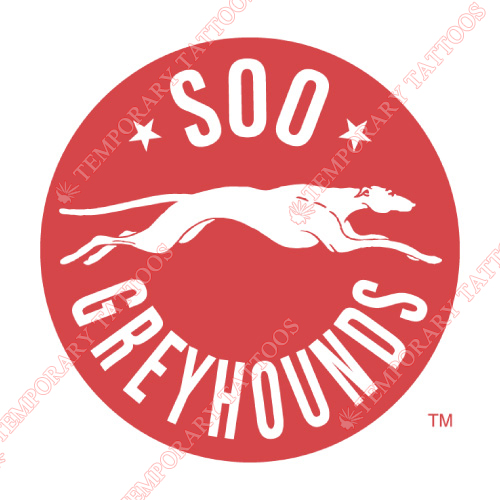 Sault Ste Marie Greyhounds Customize Temporary Tattoos Stickers NO.7393